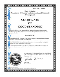 Alaska good standing certificate online corporate docs inc alaska good standing certificate yadclub Image collections